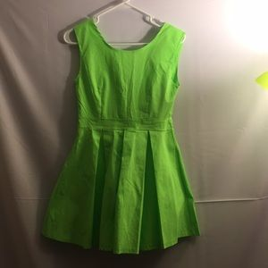 Lime Green Peplum Dress